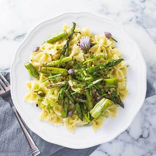 Asparagus and Chive Pasta Primavera - Vegan