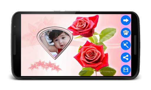 玫瑰花卉相框