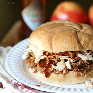 Slow Cooker Chipotle Pulled Pork with Apple Slaw.