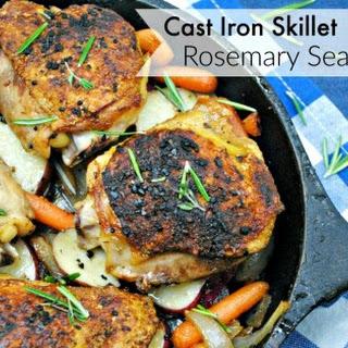 Rosemary Sea Salt Chicken Made in Cast Iron Skillet