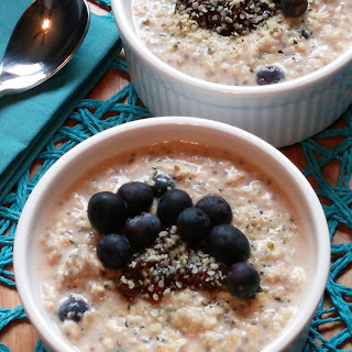 A Banana, Blueberry and Chia Seed Breakfast Cereal