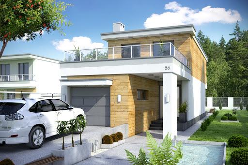 projekt Long II z garażem 1-st. A