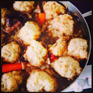 Beef Casserole & Dumplings.