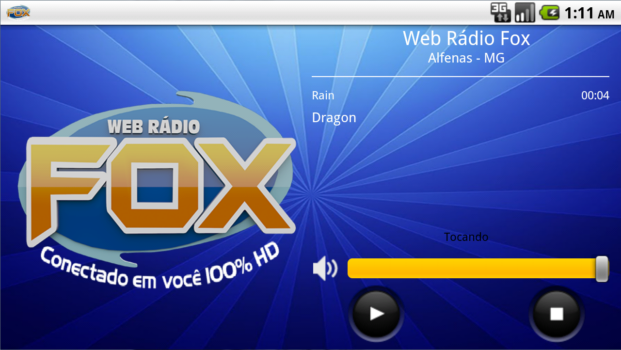 Web Rádio Fox: captura de tela