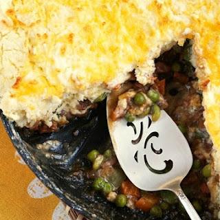 Easy Gluten Free Pot Pie in a Skillet.
