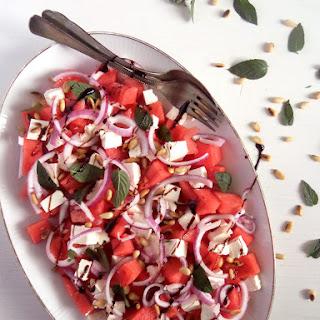Watermelon, Feta, Mint Salad