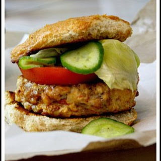 Chicken Chorizo Burgers with Cumin-Lime Quick Pickles