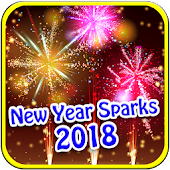 New Year 2018 Sparks Wallpaper