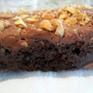 GLUTEN-FREE BROWNIES WITH CHOCOLATE PEANUT BUTTER FROSTING