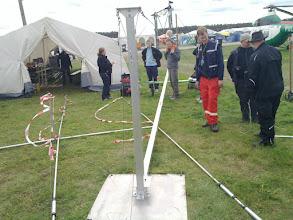 Photo: Austrians erecting radio mast