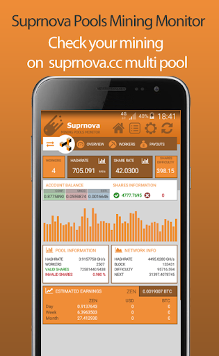 Suprnova Pools Mining Monitor  screenshots 1