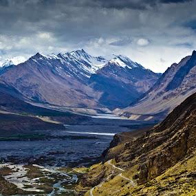 Spiti river basin by Akash Deep - Landscapes Mountains & Hills ( langza, lahaul spiti, spiti river basin, incredible spiti, kaza, spiti river, beautiful spiti )