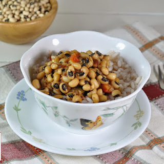 Hoppin' John with Indian touch