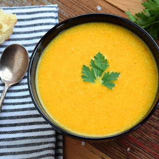 Roasted Carrot and Cauliflower Curry Ginger Soup Recipe