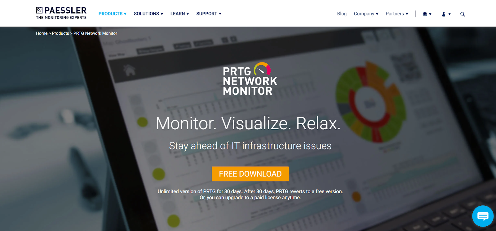 Paessler Server monitoring software