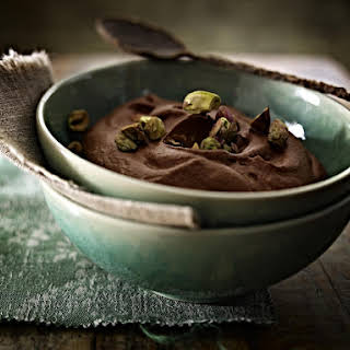 Chocolate and Raspberry Mousse.