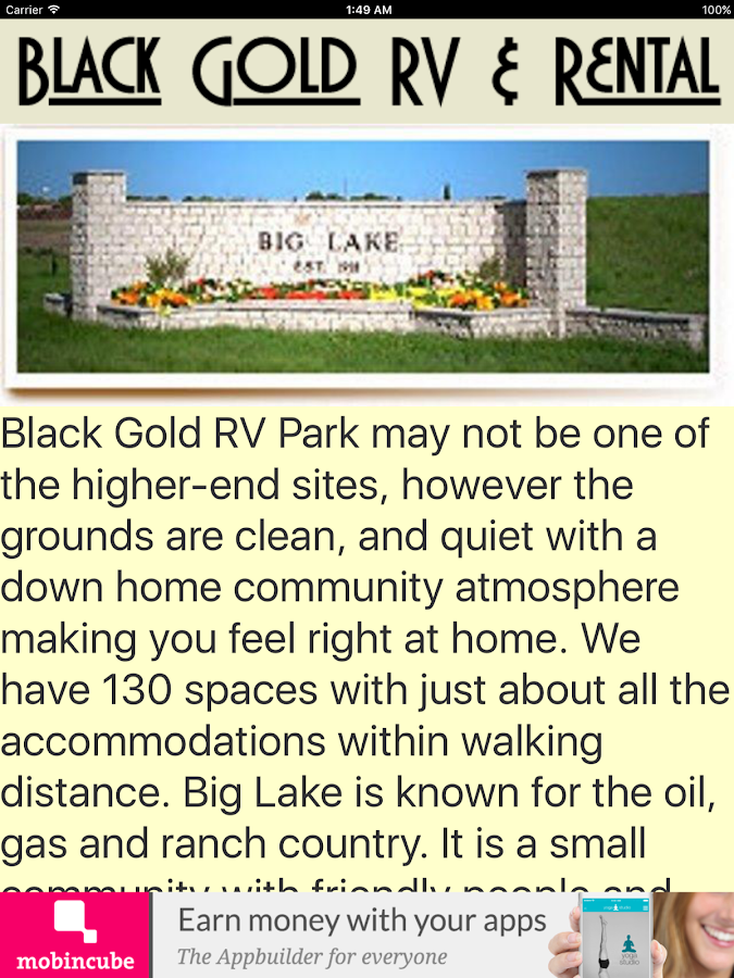 Black Gold RV Parks Screenshot
