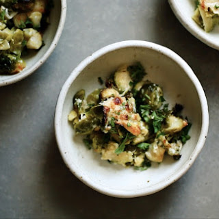 CREAMY BAKED BRUSSELS.