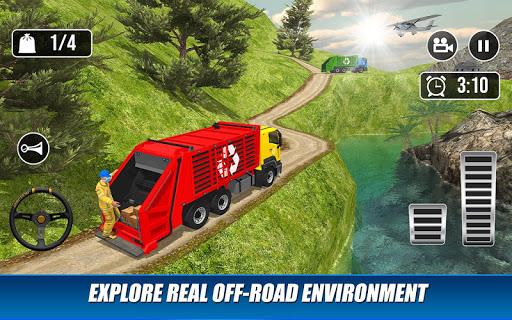 Offroad Garbage Truck: Dump Truck Driving Games apktram screenshots 12