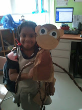 Photo: Kaleya w/ her Monkey project :-)