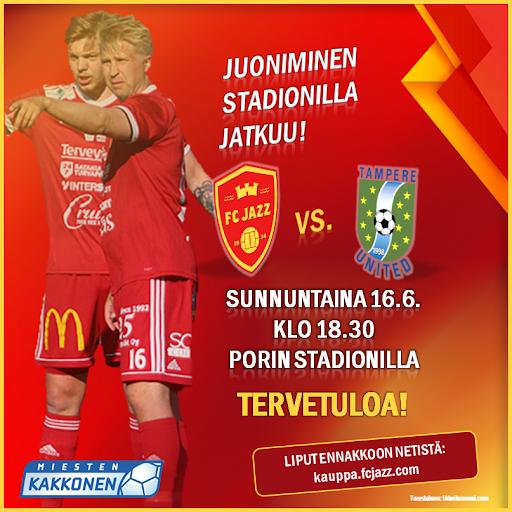 Viime peleissä FC Jazzilta on nähty upeita vaparimaaleja kun Joonas Meura ja Jussi Aalto ovat juonineet palloja verkon perälle saakka.