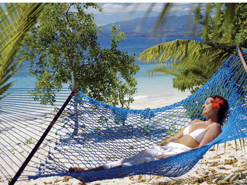 Photo: Chilling out in the hammock