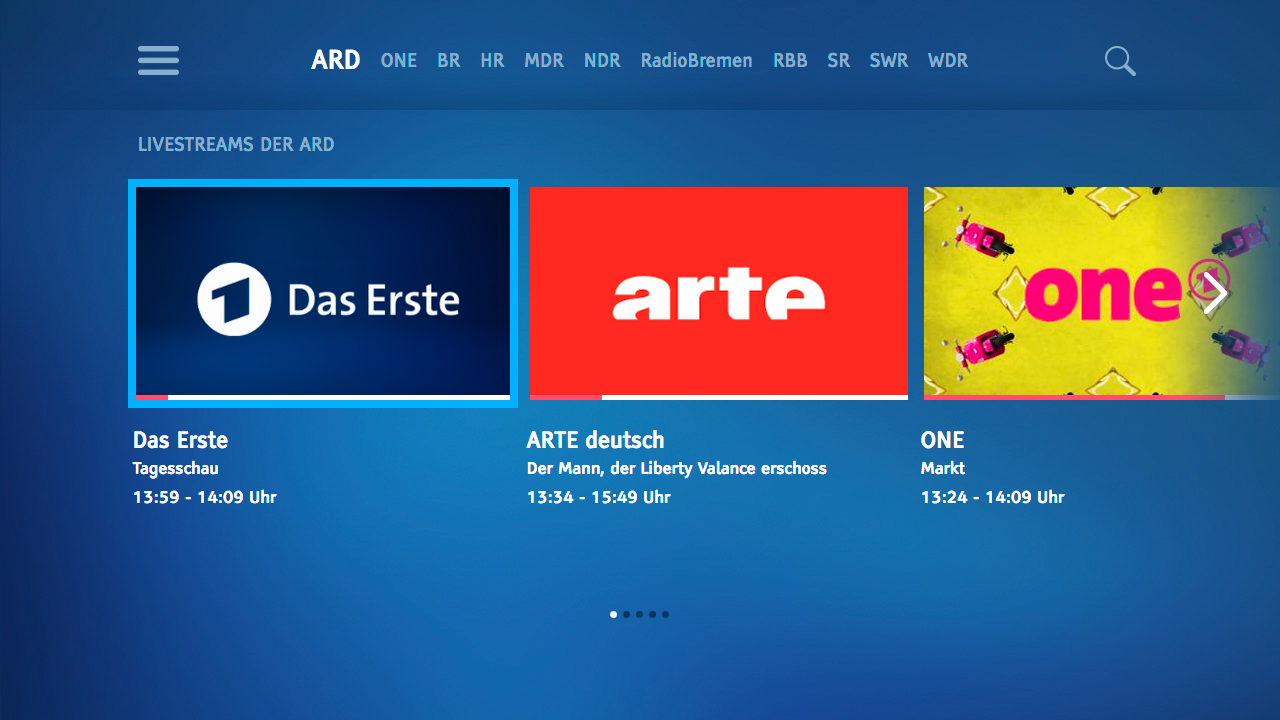 ARD für TV- screenshot