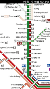 Nuremberg Metro Map - náhled