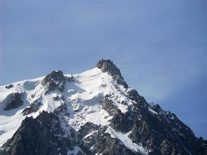 Photo: La Aguille du Midi desde la estación intermedia del teleférico. Foto AH