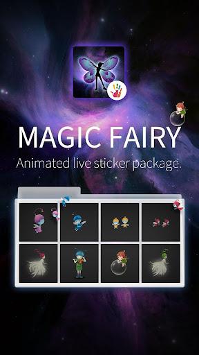 可爱小精灵动态贴纸特效包-魔幻手指动态贴纸插件包