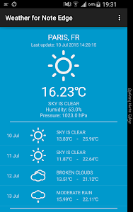 Weather for Note Edge v1.3