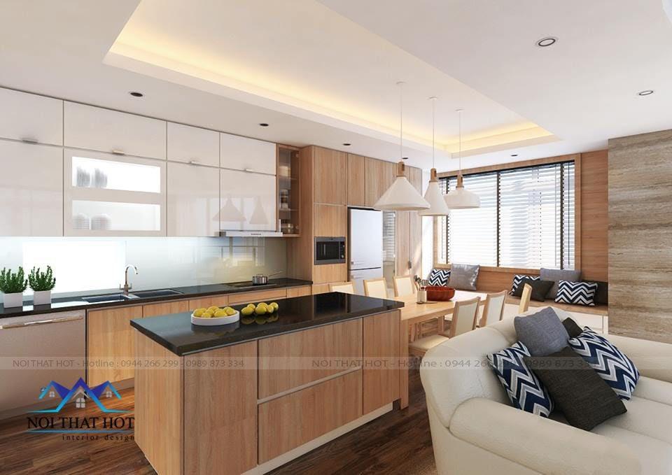 Thiết kế phòng bếp hiện đại thiết kế chung cư