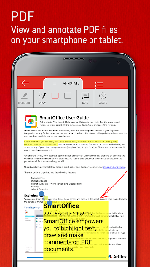 SmartOffice - View & Edit MS Office files & PDFs- screenshot