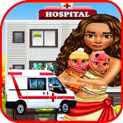 maternity doctor & newborn baby games_mommy twins