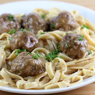 Meatballs with Gravy.