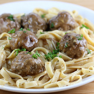 Meatballs with Gravy.