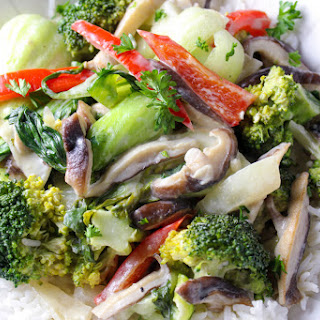 Coconut Green Curry Vegetables Recipe