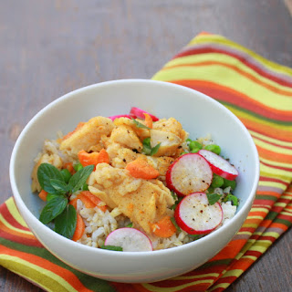 Curried Tilapia Brown Rice Bowl