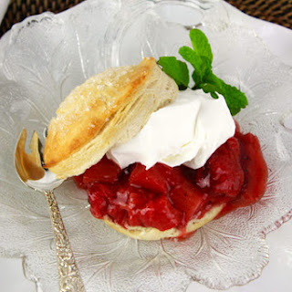 Roasted Strawberry Rhubarb Shortcakes Recipe