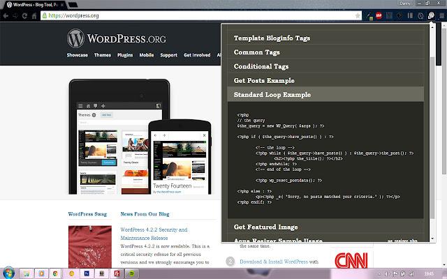 WordPress Codex Cheatsheet