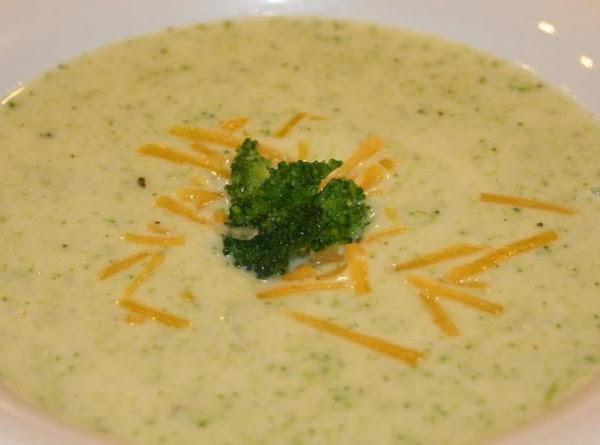 Vegetarian Cheddar-broccli Soup Recipe