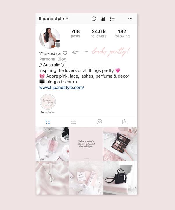 using different fonts for Instagram blogging