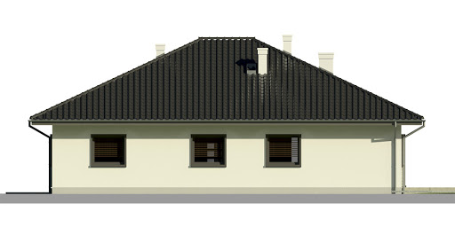 Dom przy Słonecznej 7 - Elewacja tylna