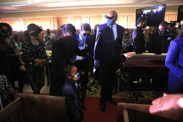 Due to Covid-19 restrictions only 50 of Bob Mabena's loved ones were allowed at the funeral service.