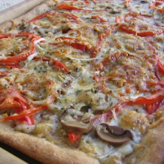 Healthy 3 Cheese Garden Vegetable Pizza with Whole Wheat Crust