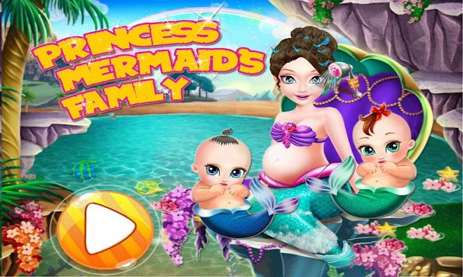 Princess Mermaid Family - screenshot