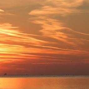 A Sunrise  by Stoyan Baev - Landscapes Sunsets & Sunrises ( clouds, sky, sea, sunrise, sun,  )