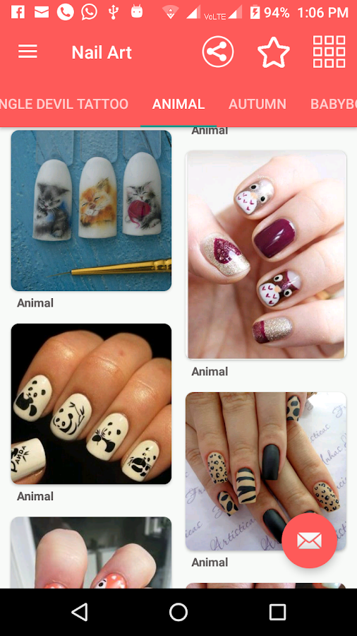 Nail art and tattoo design 2018 android apps on google play nail art and tattoo design 2018 screenshot prinsesfo Choice Image