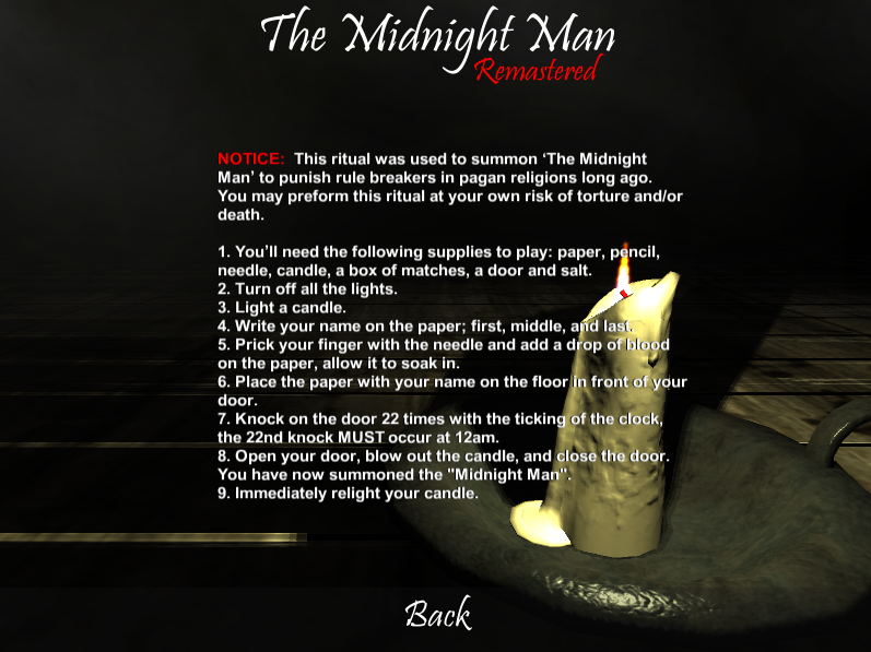 The Midnight Man (Horror Game)- screenshot
