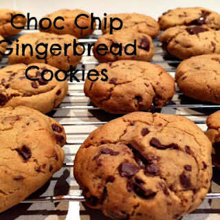 Chocolate Chip Gingerbread Cookies.